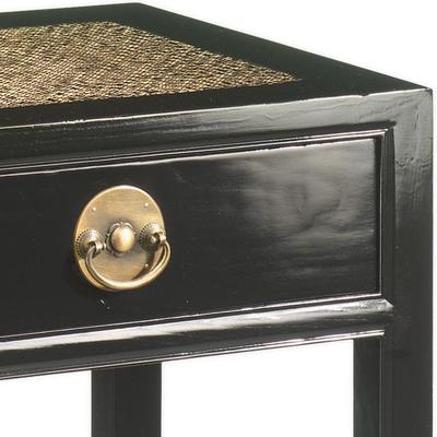 Carved Console Table, Black Lacquer image 3