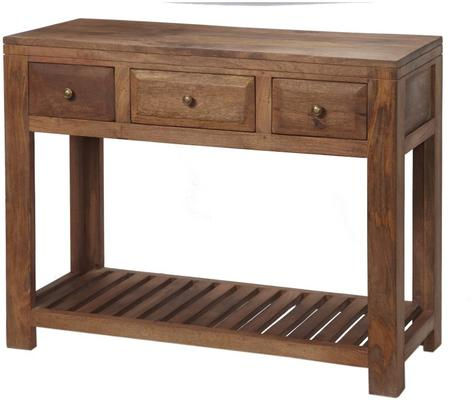 Alwar Mango Light Solid Wood Console Table with Drawers image 2