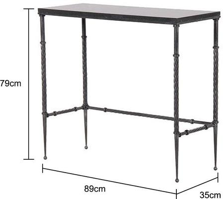Slim Metal Console Table image 2