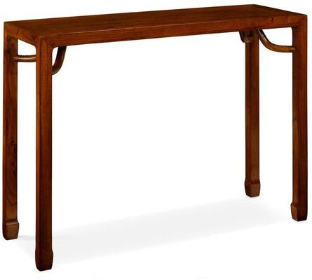 Ming Console Table, Warm Elm