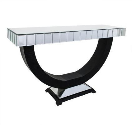 Art Deco Semi Circular Console Table