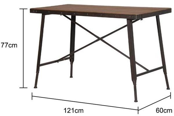Industrial Metal and Wood Console Table image 2