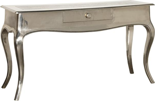 Shiny Silver French Console Table