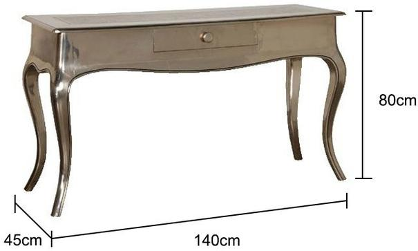 Shiny Silver French Console Table image 2