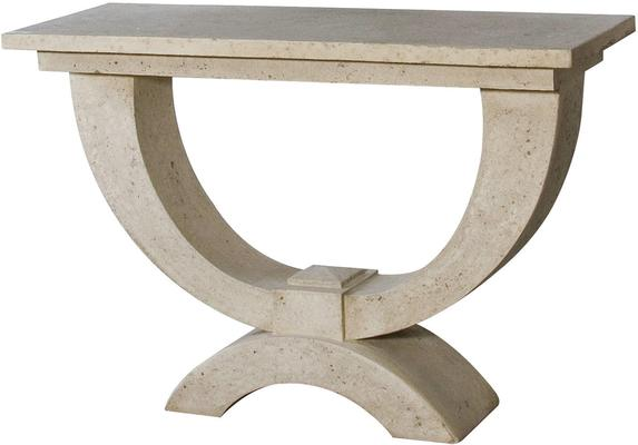 Stone Effect Roman Console Table