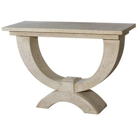 Stone Effect Roman Console Table image 2