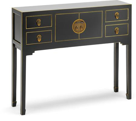 Small Classic Chinese Console Table - Black