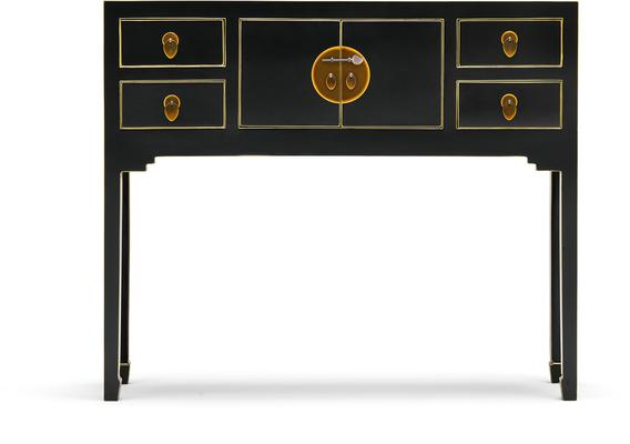 Small Classic Chinese Console Table - Black image 2