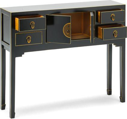 Small Classic Chinese Console Table - Black image 3