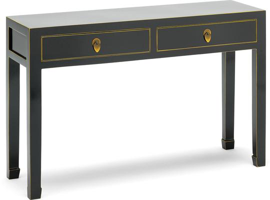 Large Classic Chinese Console Table - Black