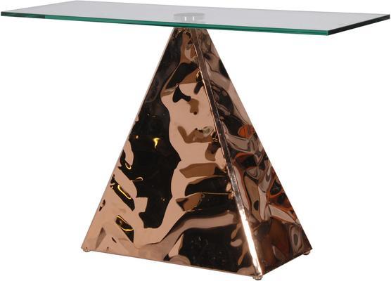 Pyramid Console In Copper