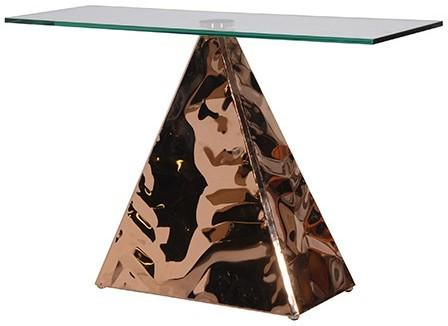 Pyramid Console In Copper image 2
