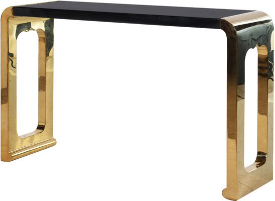 Chunky gold console Table