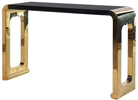 Chunky gold console Table image 2