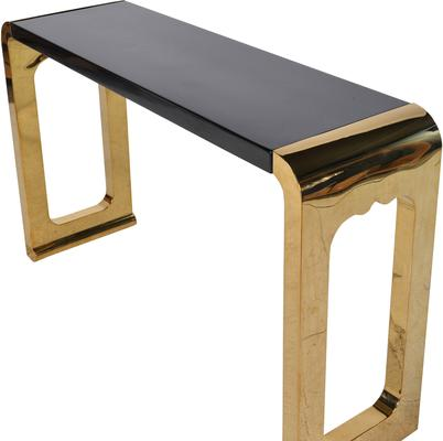 Chunky gold console Table image 3