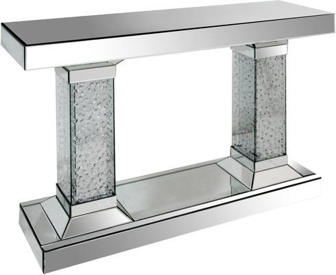 Twin Pillar Mirrored Console