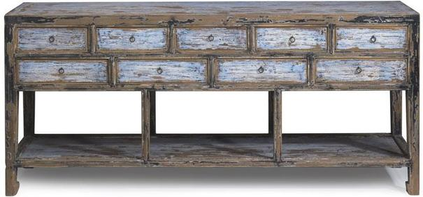 Multi drawer Console in Blue & Black image 2