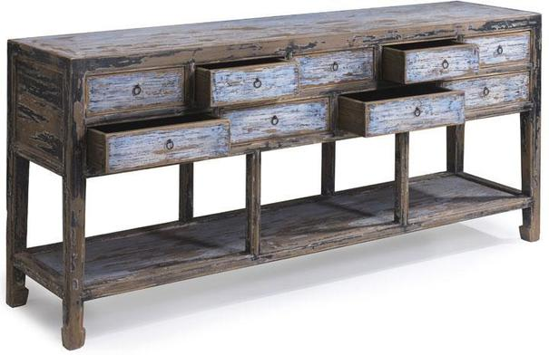 Multi drawer Console in Blue & Black image 3