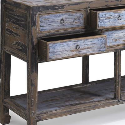 Multi drawer Console in Blue & Black image 4