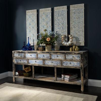Multi drawer Console in Blue & Black image 6