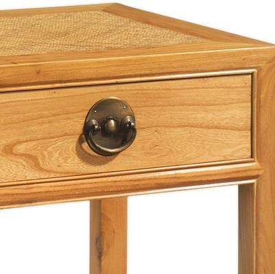 Carved Console Table in Light Elm image 2