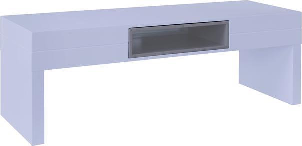 Savoye Low TV Unit Table - Matt White Lacquer image 3