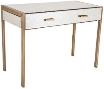 Antique Mirrored Console Table with Brass Legs
