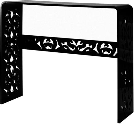 Acrylic Lace Console Table in Black or White