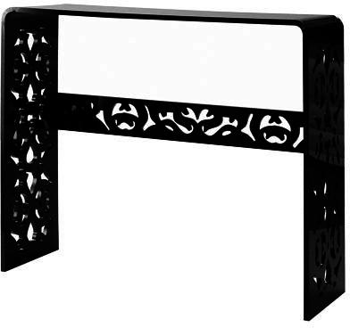 Acrylic Lace Console Table in Black or White image 2