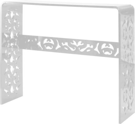 Acrylic Lace Console Table in Black or White image 3