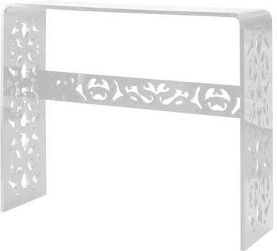 Acrylic Lace Console Table in Black or White image 4