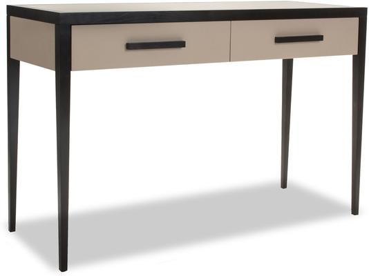Liza Wenge Oak and Faux Leather Console Table
