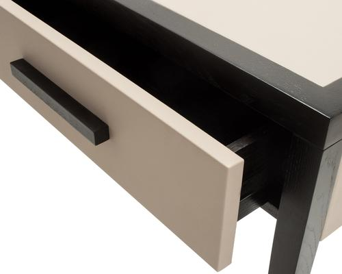 Liza Wenge Oak and Faux Leather Console Table image 5
