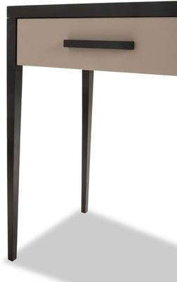 Liza Wenge Oak and Faux Leather Console Table image 6