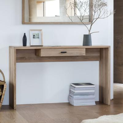 Kielder Console Table Solid Oak With Drawer  image 2
