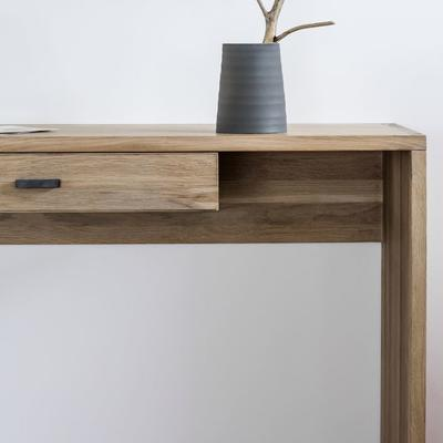 Kielder Console Table Solid Oak With Drawer  image 4