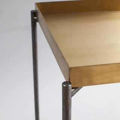 Iris Console Table Small with Brass Tray Top image 3