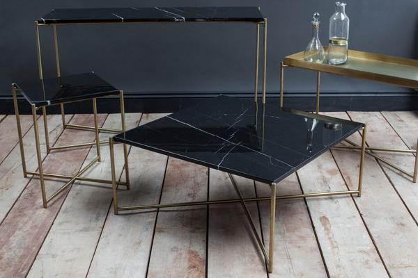Iris Console Table Small with Brass Tray Top image 4
