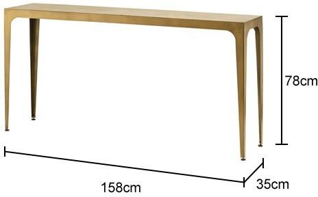 Rectangular Console Table Scandi-Chic image 2