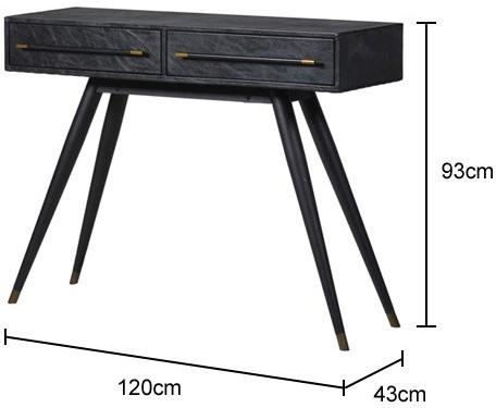 Leather Console Table Contemporary image 2