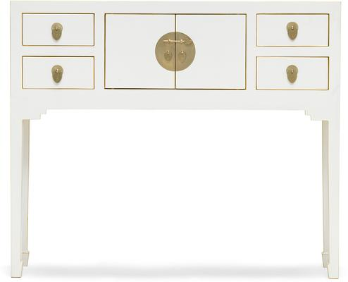 Small White Chinese Console Table image 2