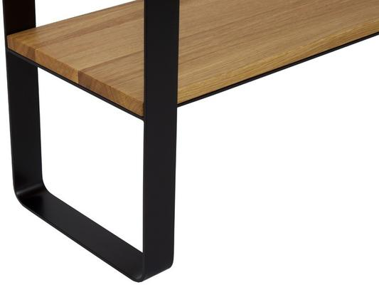 Linea  Console - Oak and Black Finish image 2