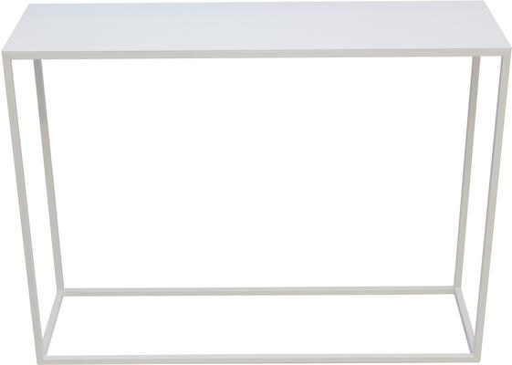 Skinny Steel Console -White  Finish