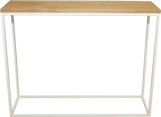 Skinny Console - Oak and White Finish
