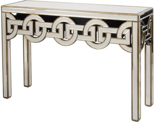 Claridge Circle Link Glass Console Table Art Deco