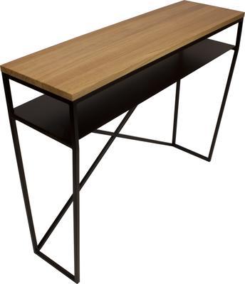 Emerald Console Table - Black and Oak Finish