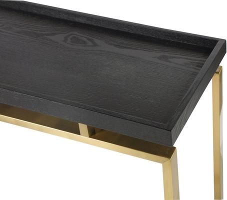 Malcom Console Table - Dark Wood Top Brass or Steel image 5