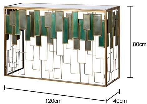 Glass Panel Console Table image 2