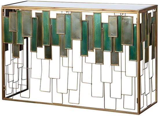 Glass Panel Console Table