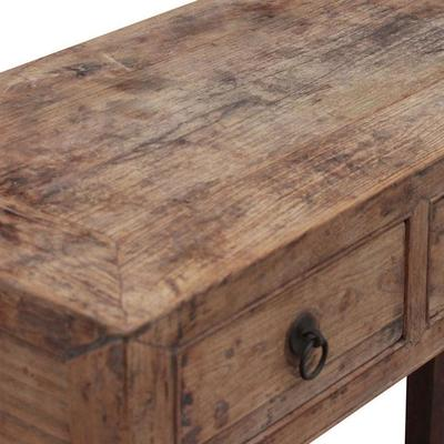 Three Drawer Chinese Elm Console image 3